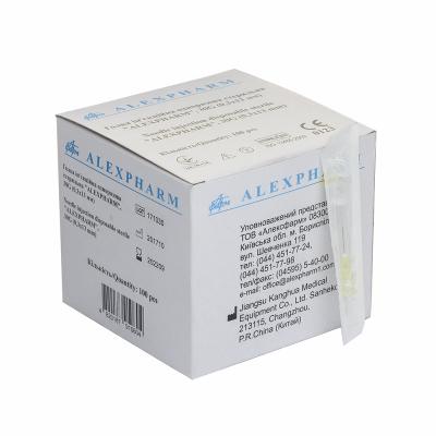 Игла инъекционная одноразовая стерильная 22G 0,7х40 ALEXPHARM 100 шт/уп