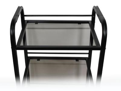 Тележка косметологическая на 3 полки мод. 003 стекло, Чёрная