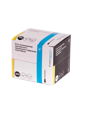 Игла инъекционная одноразовая стерильная 21G 0,8x40мм Vogt Medical 100шт/уп