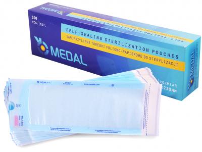 Самоклеющиеся пакеты для паровой и ЕО стерилизации Medal