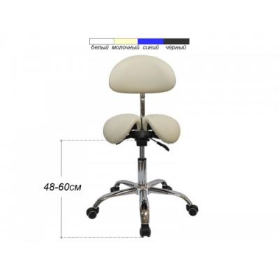 Стул-седло для мастера мод 4008-1 со спинкой