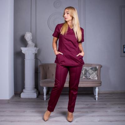 Медицинский костюм женский бордовый Avicenna
