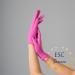 Нитриловые перчатки розовые Polix PRO&MED