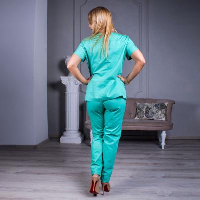 Медицинский костюм женский салатовый Avicenna