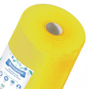 Простынь спанбонд Doily желтая 0.6х100п.м.