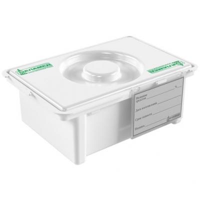Емкость-контейнер полимерный (полипропиленовый) для дезинфекции и предстерилизационной обработки медицинских изделий (с карманом) ЕДПО-10-02-2