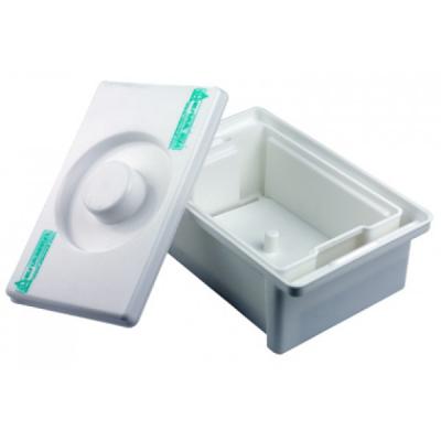 Емкость-контейнер полимерный (полистироловый) для дезинфекции и предстерилизационной обработки медицинских изделий ЕДПО-10-01