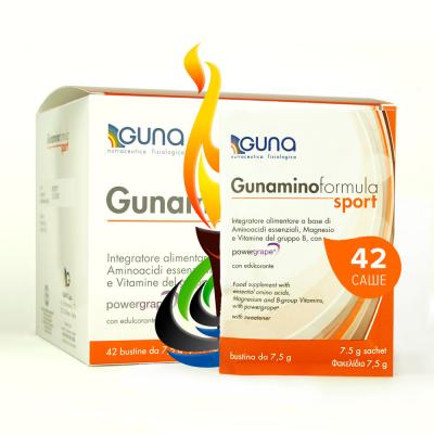 Gunamino Formula Sport 8 незаменимых аминокислот для спортсменов