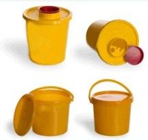 """Емкость-контейнер одноразовый для сбора медицинских отходов """"Киль-К"""": желтый одноразовый для сбора острого инструментария объемом 1л (класс Б)"""