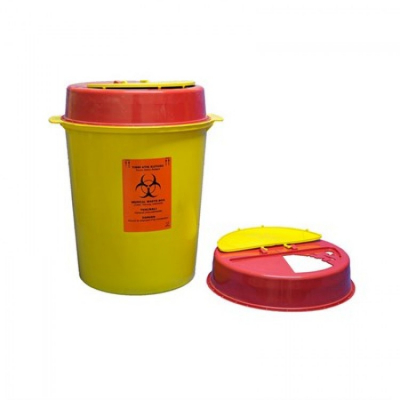 Емкость - контейнер одноразовый для сбора медицинских отходов на 5л