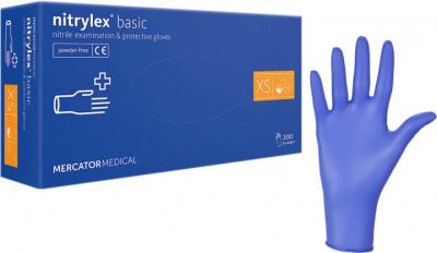 Перчатки нитриловые нестирильные NITRYLEX BASIC 200 шт blue