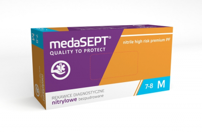 Перчатки нитриловые medaSEPT nitrile high risk  pf 100шт