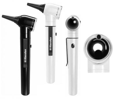 Отоскоп  e-scope®, прямое освещение, вакуум 2,7 В, белый, в сумке