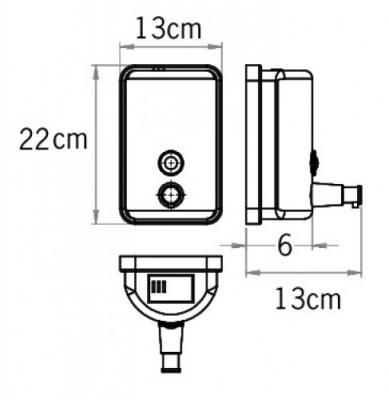 Дозатор жидкого мыла металл чёрный 1л