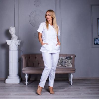 Медицинский костюм женский белый Avicenna